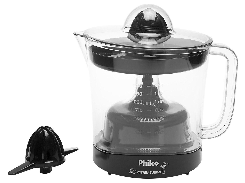 Espremedor de Frutas Philco Citrus Turbo Elétrico - 50W 1,5L Preto
