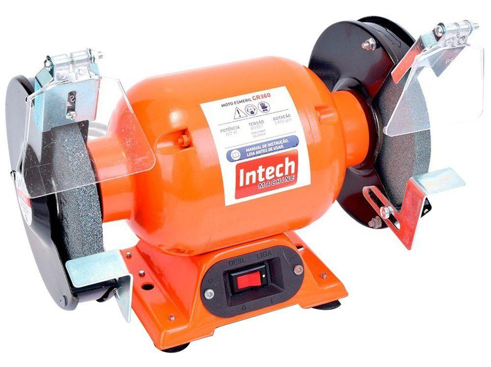 "Moto Esmeril Profissional Intech Machine 6"" - GR360 360W Bivolt"