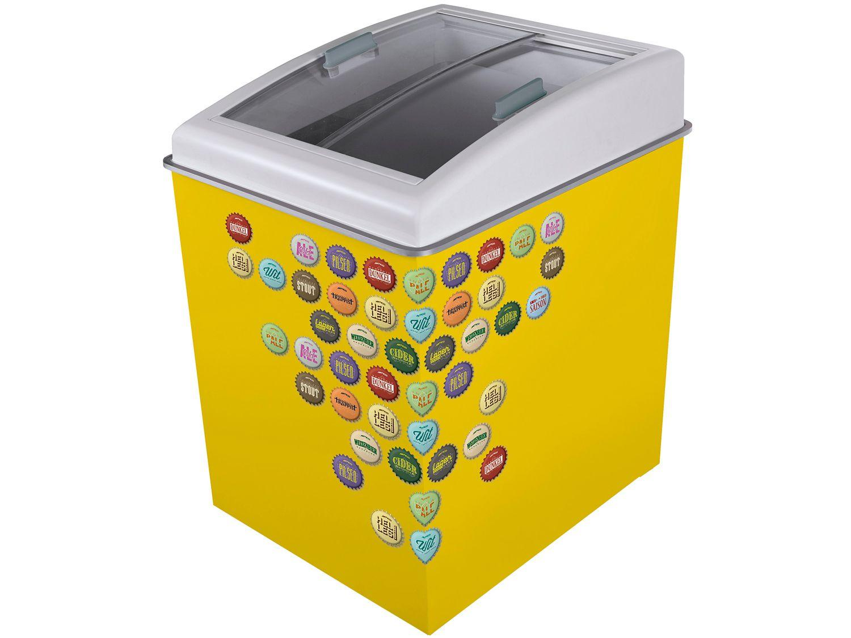 Freezer Horizontal 2 Tampas de Vidro Ártico - 100L Temática CA150T Yellow Beer 90221803