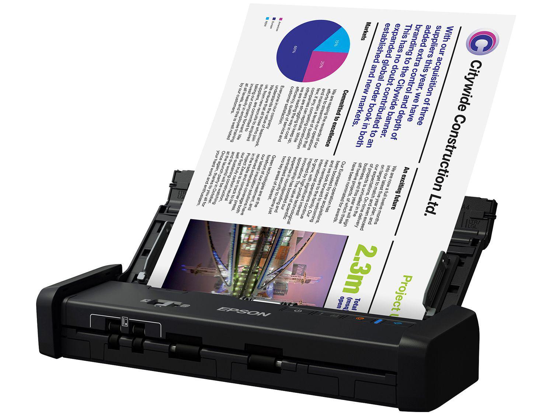 Scanner Portátil Epson WorkForce ES-200 Colorido - 600dpi Alimentador Automático