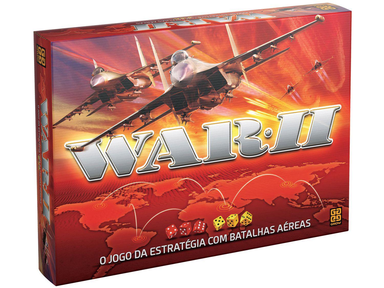 Jogo War II Tabuleiro - O Jogo da Estratégia com Batalhas Aéreas Grow