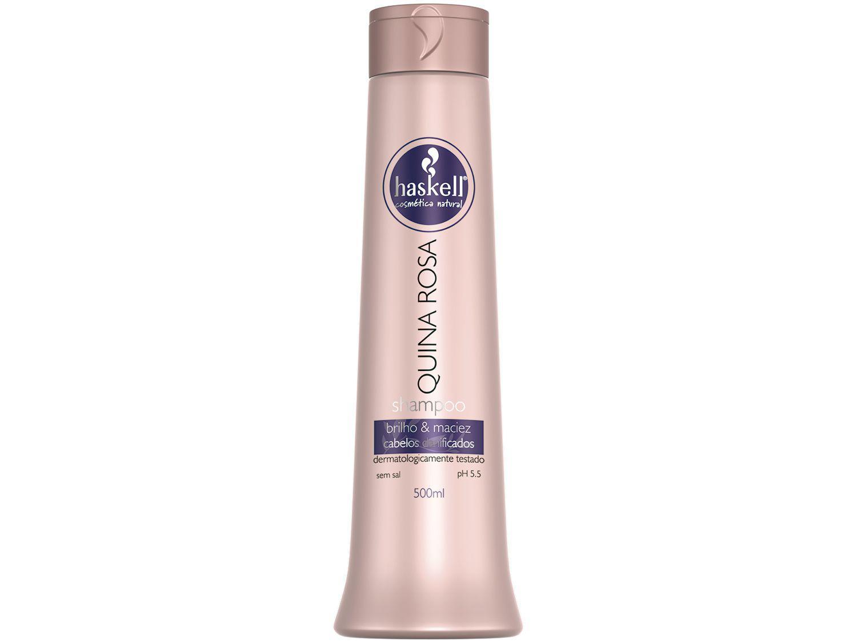 Shampoo Haskell Profissional Quina Rosa - Brilho & Maciez 500ml