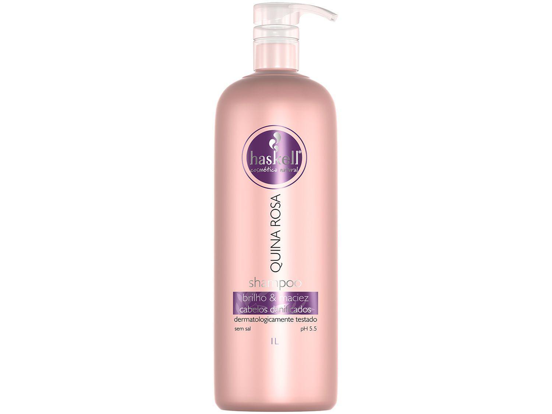Shampoo Haskell Profissional Quina Rosa - Brilho & Maciez 1L