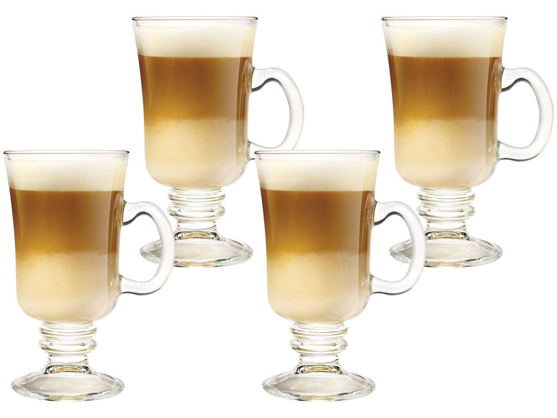 Caneca de Vidro de Café 240ml Crisa México - Bill 4 Peças