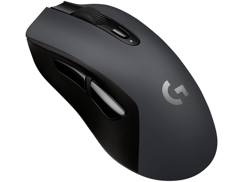 Mouse Gamer Sem Fio Sensor Óptico 12000DPI - Logitech G603 Preto