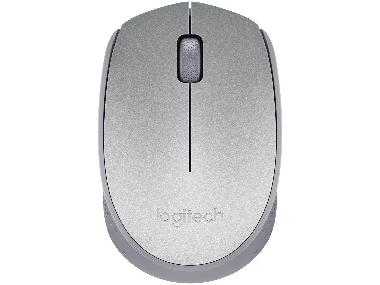 Mouse sem Fio Logitech Óptico 1000DPI 3 Botões - M170 Prata