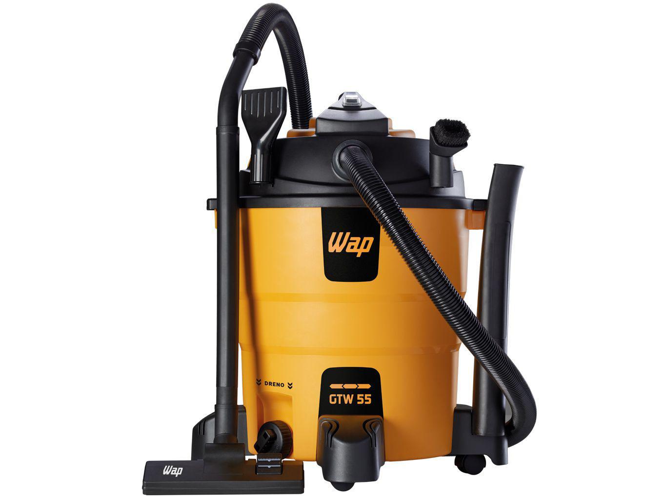 Aspirador de Pó e Água Profissional Wap - Filtro HEPA 1600W GTW 55 FW005734 Preto e Amarelo