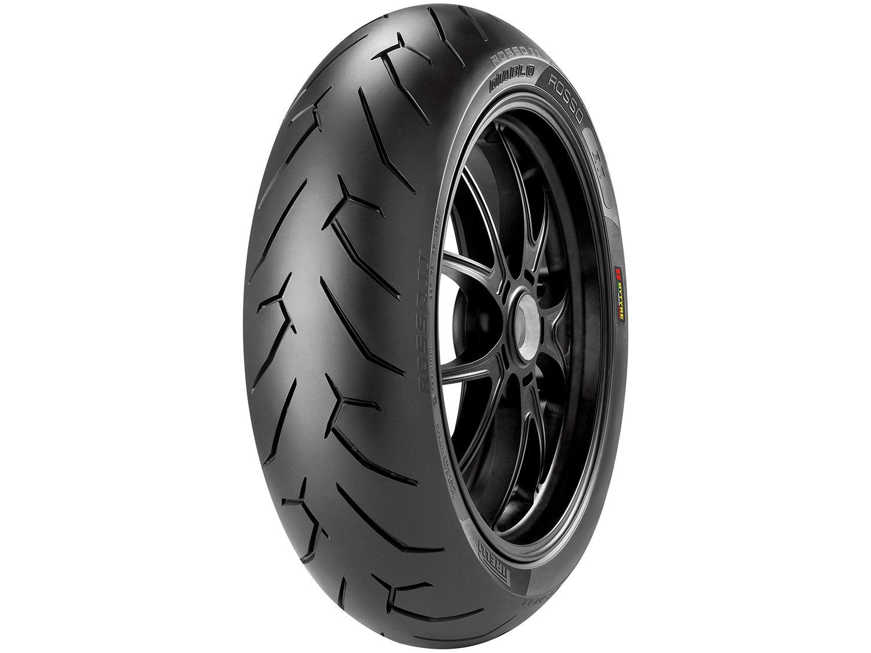 "Pneu Moto Aro 17"" Traseiro Pirelli 180/55 73W - Sport Diablo Rosso II"