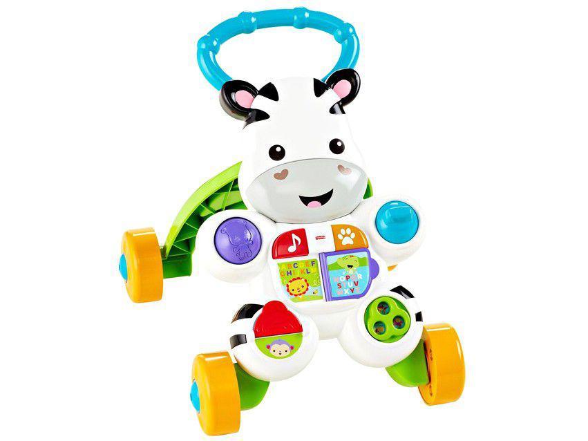 Andador para Bebê de Empurrar Musical Fisher-Price - Zebra DLH48