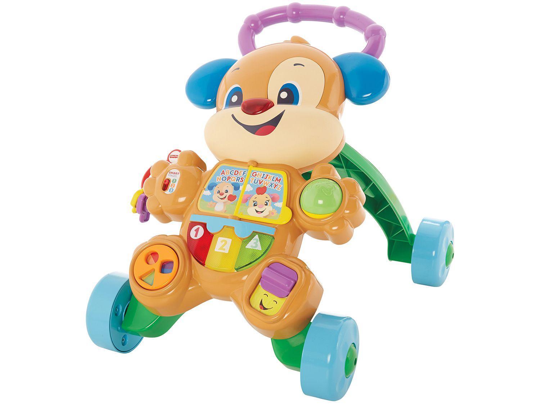 Andador para Bebê de Empurrar Musical Fisher-Price - Aprender e Brincar Cachorrinho FRC78