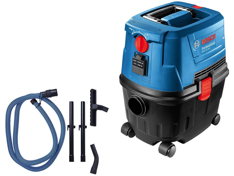 Aspirador de Pó e Água Bosch Profissional - 1100W GAS 15 PS Azul