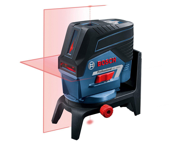 Nível a Laser Automático Bosch GCL 2-50 C - com Base Magnética Alcance 50m com Tripé