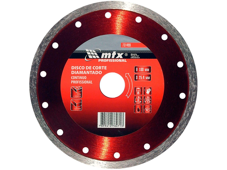 Disco de Corte Diamantado 180x25,4mm MTX - 731499