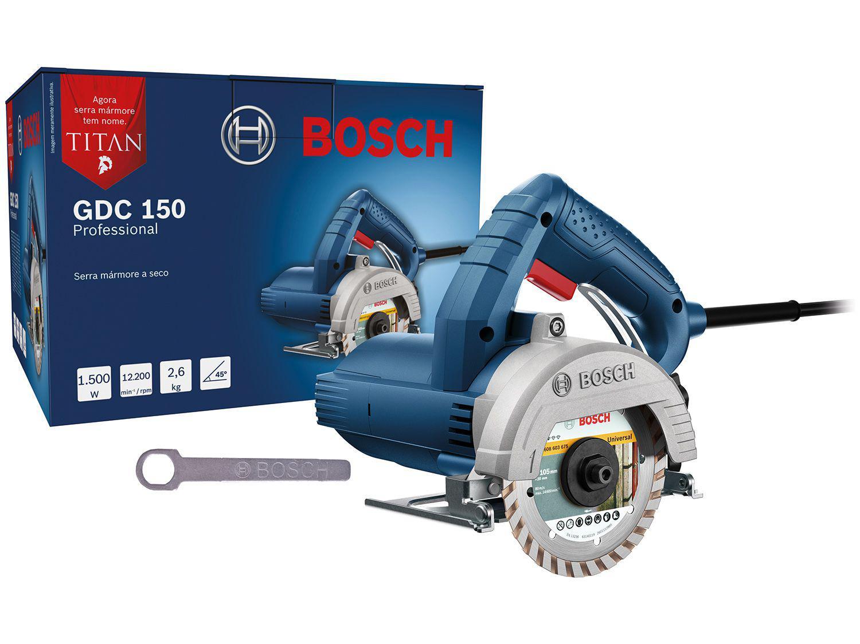 Serra Mármore Bosch GDC 150 1500W - 12200 RPM 4 Peças