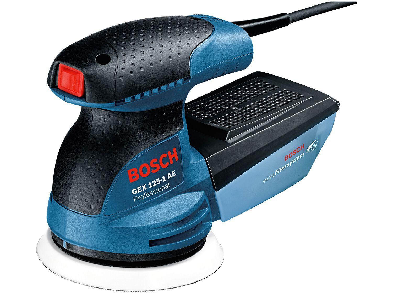 Lixadeira Excêntrica de Cinta Elétrica Bosch - 250W GEX 125-1 AE