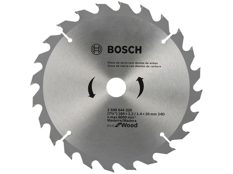"Disco de Serra Circular 7"" 24 Dentes para Madeira - Bosch Eco For Wood"