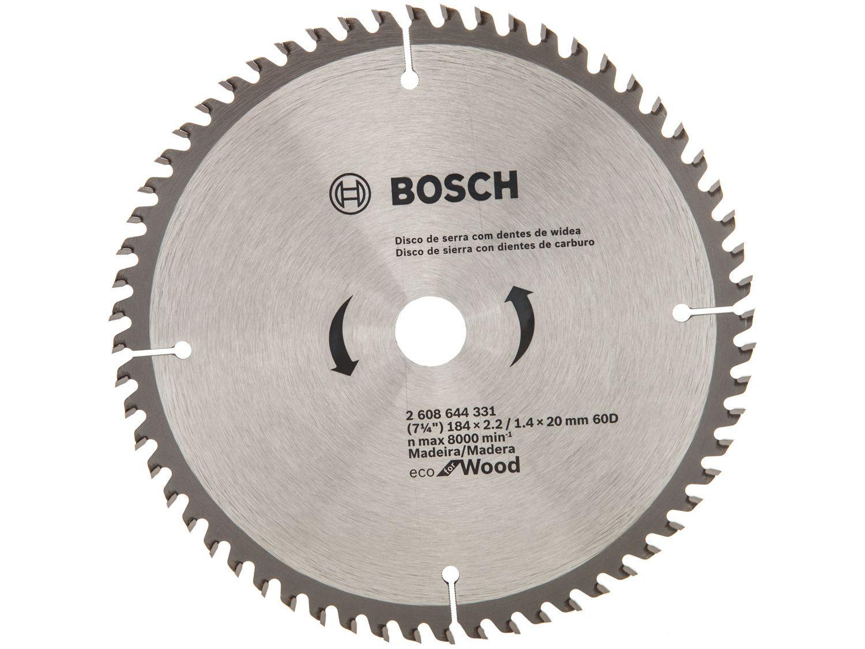 "Disco de Serra Circular 7"" 60 Dentes para Madeira - Bosch Eco For Wood"