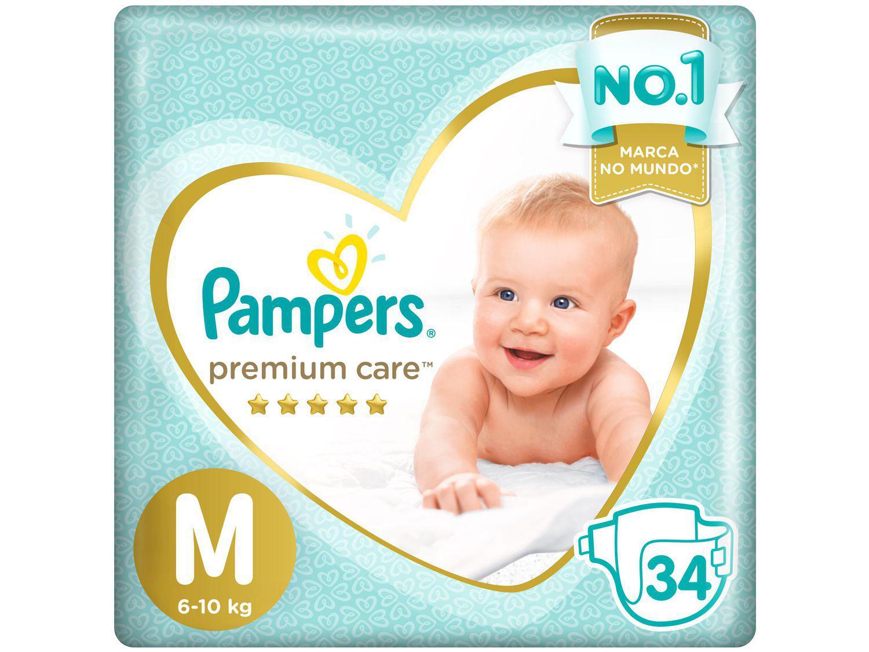 Fralda Pampers Premium Care M - 6 a 10kg 34 Unidades