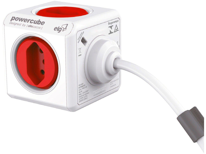 Adaptador de Tomada Universal 5 Tomadas - ELG PowerCube Extended Bivolt