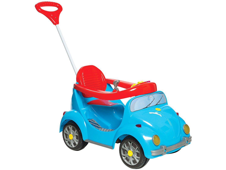 Carrinho de Passeio Infantil a Pedal 1300 Fouks - com Empurrador Emite Sons Calesita