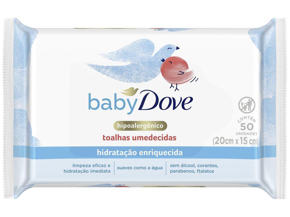 Lenços Umedecidos Baby Dove Hidratação Enriquecida - 50 Unidades