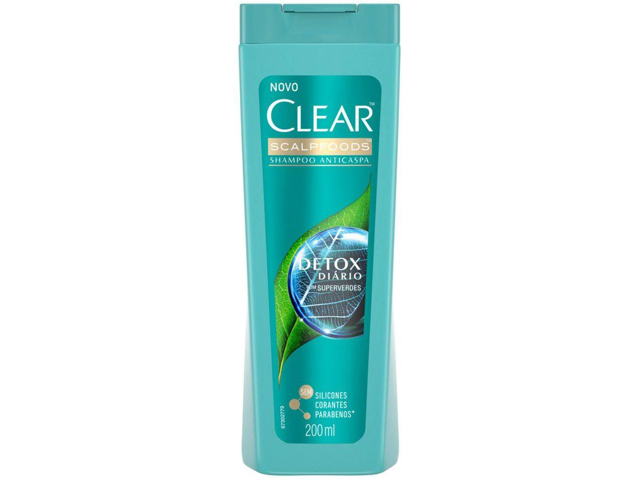 Shampoo Clear Women Detox Diário - 200ml