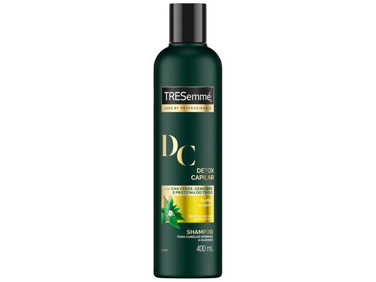 Shampoo TRESemmé Detox Capilar - Cabelos Purificados e Nutridos 400ml