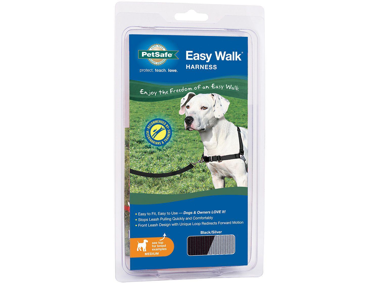 Guia para Cachorro Tam. M Preto e Cinza - PetSafe Easy Walk