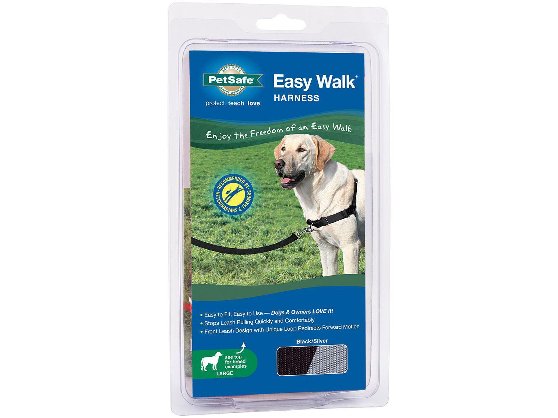 Guia para Cachorro Tam. G Preto e Cinza - PetSafe Easy Walk