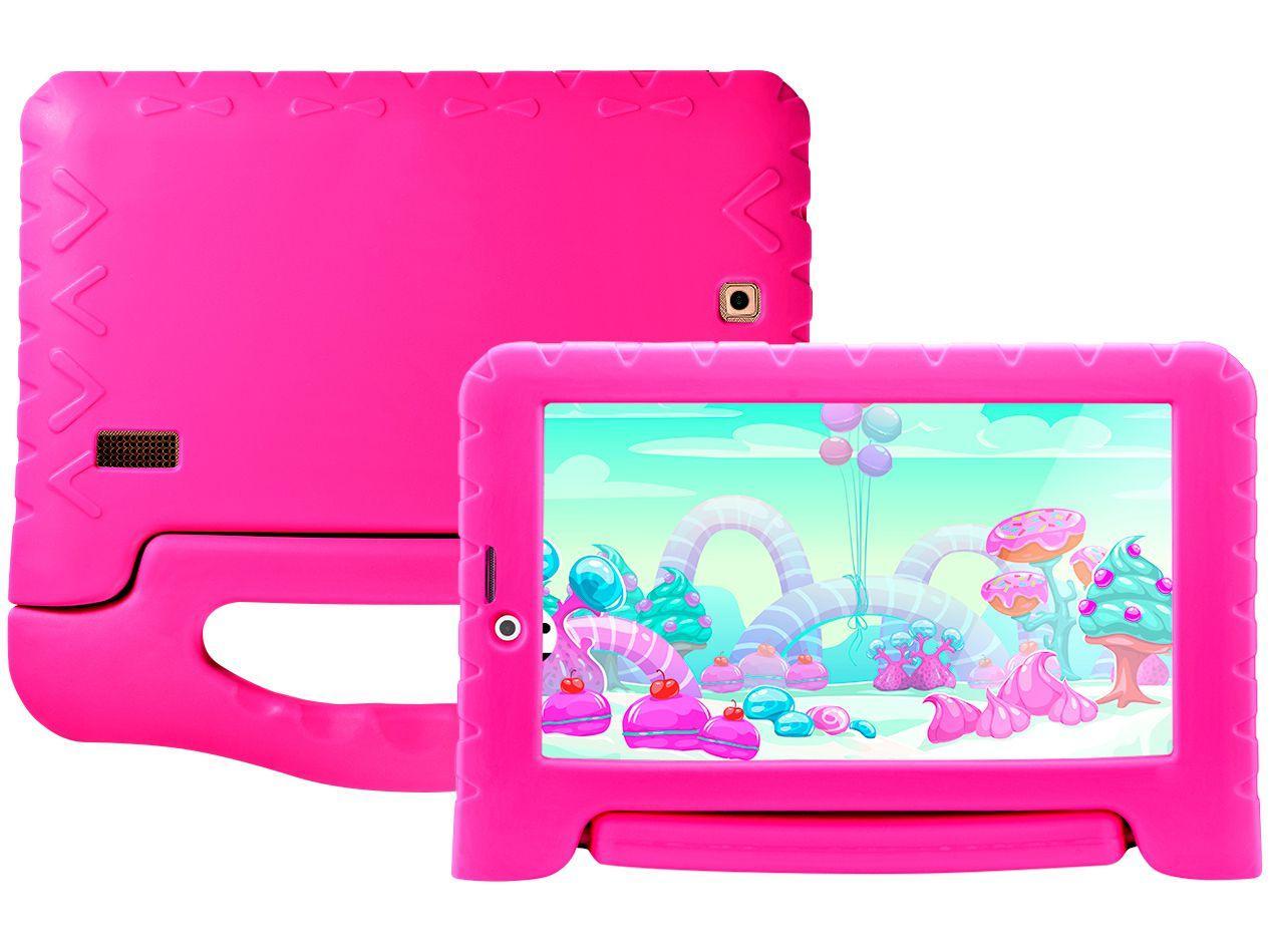 "Tablet Multilaser Kid Pad Plus 8GB 7"" 3G/Wi-Fi - Android Oreo (Go) Quad-Core com Câmera Integrada"