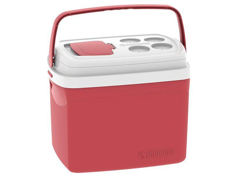 Caixa Térmica Soprano 32L Tropical - Vermelha