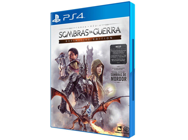 Terra Média: Sombras da Guerra Definitive Edition - para PS4 Sony