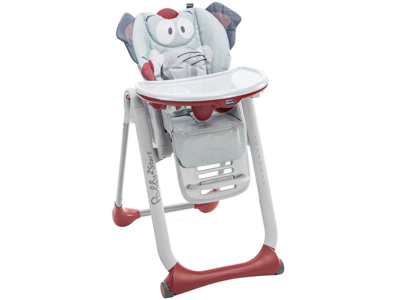 Cadeira de Alimentação Portátil Chicco - Polly 2 Start Baby Elephant 8 Posições de Altura