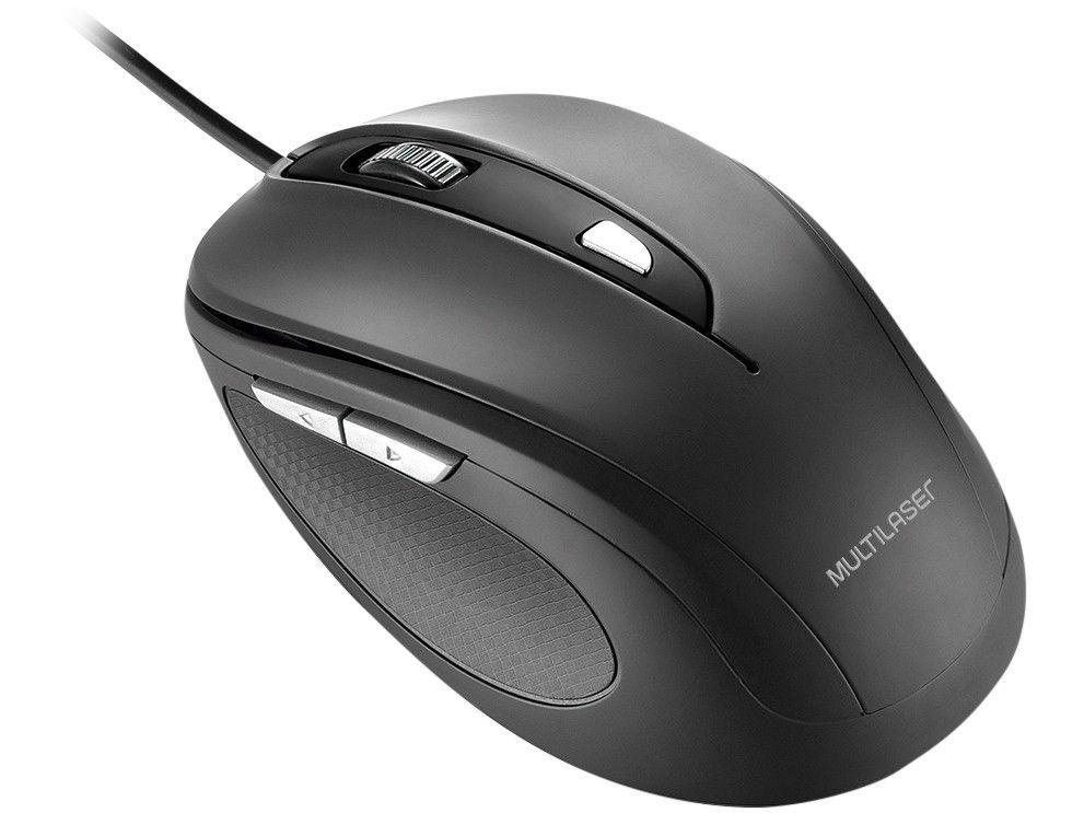 Mouse Sensor Óptico 1600dpi Multilaser - Comfort MO241