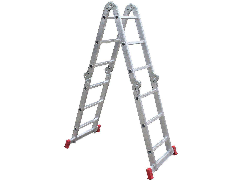Escada Alumínio Articulada 13 Degraus Botafogo - Profissional ESC0292
