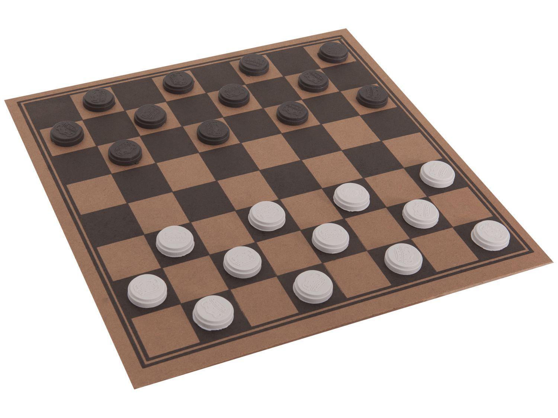 Jogo de Tabuleiro Dama 24 Peças Pangué - 475