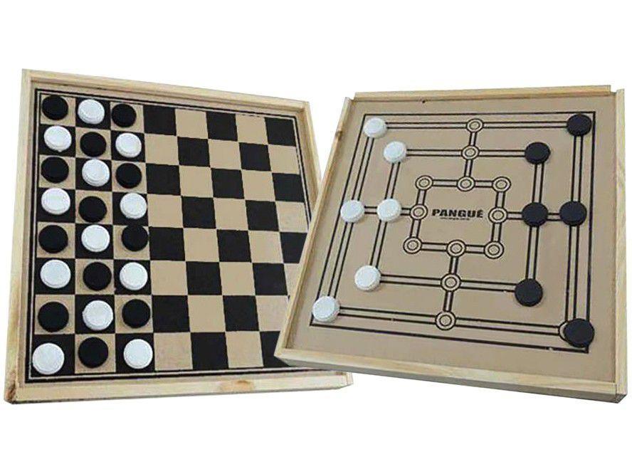 Jogo de Tabuleiro Dama 24 Peças Pangué - 2 em 1