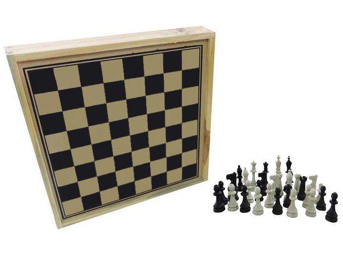 Jogo de Tabuleiro Xadrez 32 Peças Pangué - 519