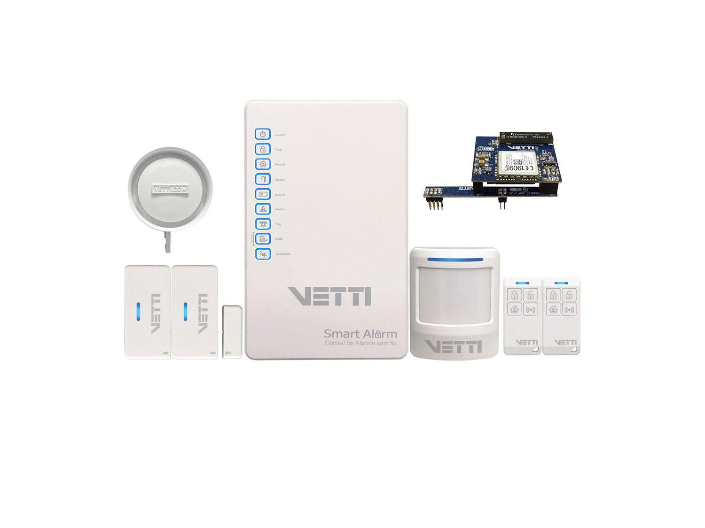 Kit Alarme Residencial/Comercial Vetti - com Discador de Linha Fixa GSM 3G Smart 3 Sensores
