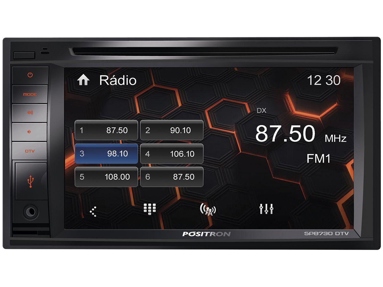 """Central Multimídia Pósitron SP8730DTV LCD 6,2"""" - TV Entrada para Câmera de Ré USB Bluetooth"""