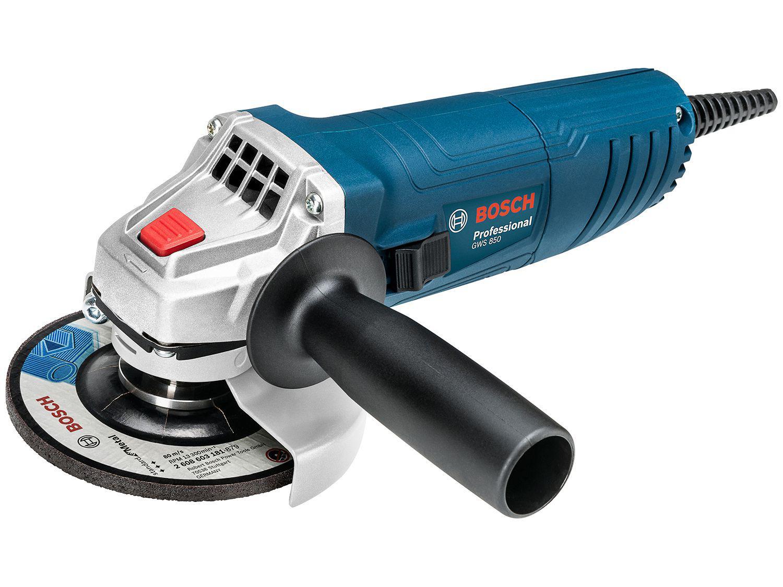 """Esmerilhadeira Bosch 4 1/2"""" 850W GWS 850"""
