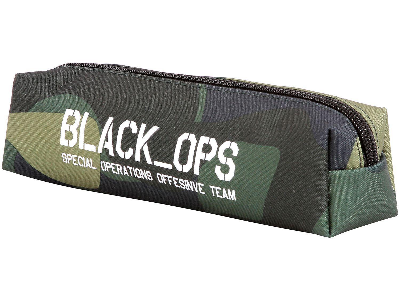 Estojo Escolar Camuflado com Zíper Black Ops - DMW