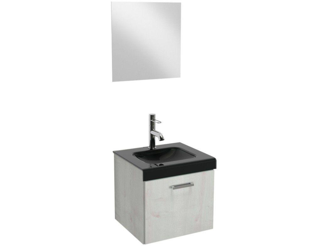 Gabinete para Banheiro de Vidro com Espelho - 1 Porta VB Cristais VB5039A