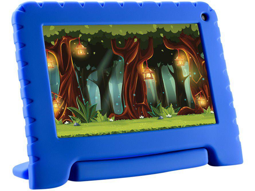 "Tablet Infantil Multilaser Kid Pad Go com Capa - 16GB 7"" Wi-Fi Android 8.1 Quad Core Câm. 1.3M"