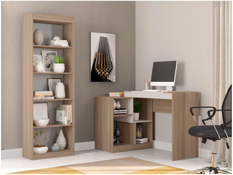 Conjunto Escritório Hecol Móveis Home Office - HO-2963 2 Peças