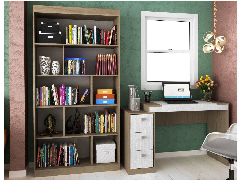 Conjunto Escritório Hecol Móveis - Home Office HO-2957 2 Peças