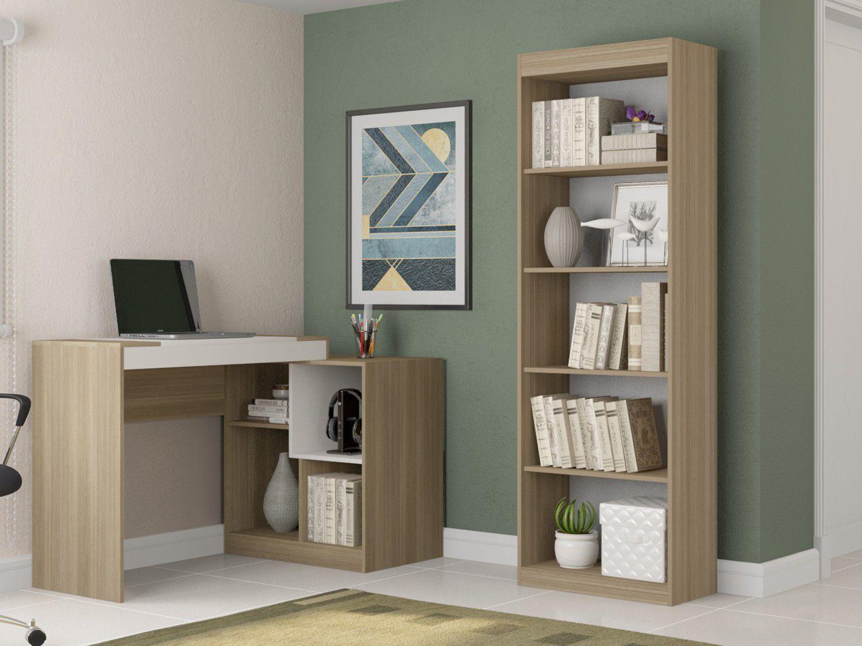 Conjunto Escritório Hecol Móveis Home Office - HO-2959 2 Peças