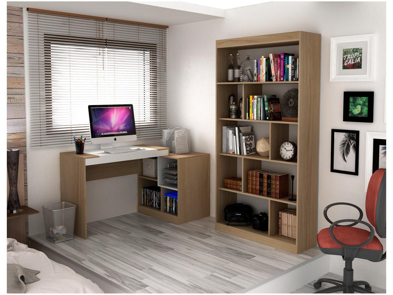 Conjunto Escritório Hecol Móveis Home Office - HO-2961 2 Peças