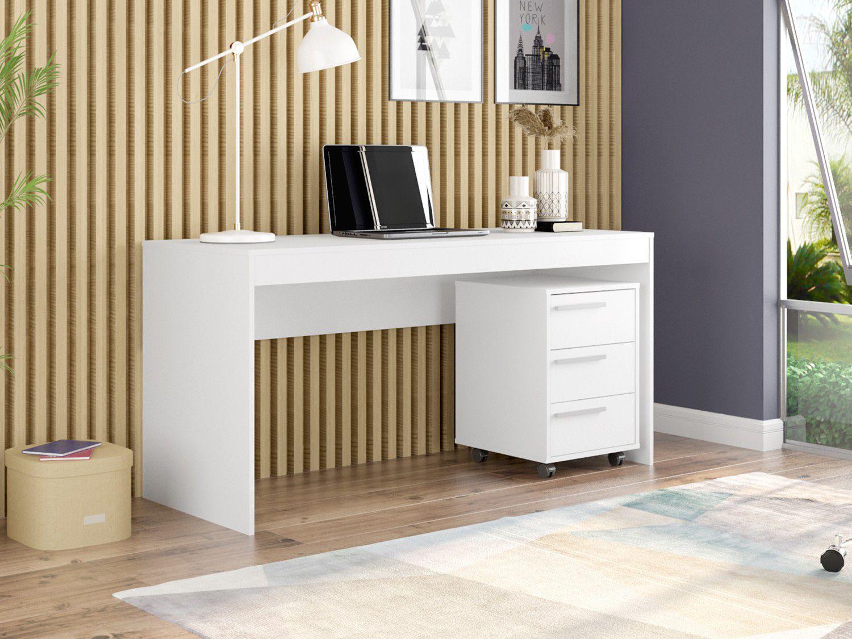 Conjunto Escritório Hecol Móveis Home Office - HO-2971 2 Peças