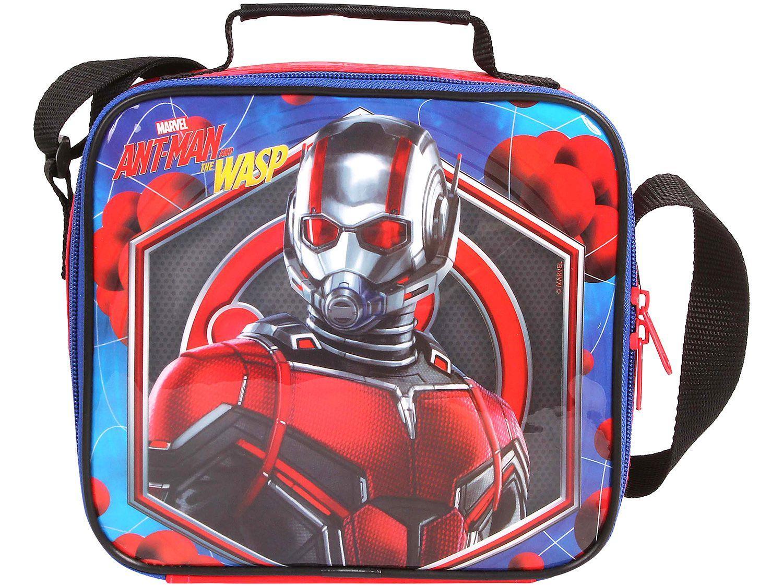 Lancheira Infantil Escolar Marvel Vermelha DMW - Plus Ant Man and the Wasp